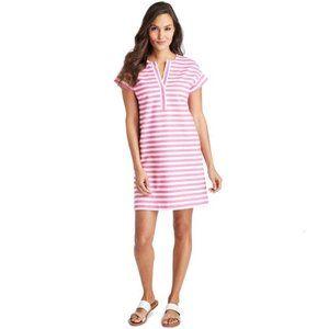Vineyard Vines Pink Stripe Cotton Knit Dress